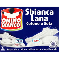 Omino Bianco Sbianca lana cotone e seta 100 gr.
