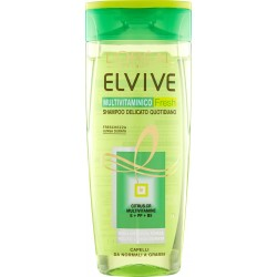 Elvive Multivitaminico Fresh Shampoo delicato quotidiano capelli da normali a grassi 250 ml.
