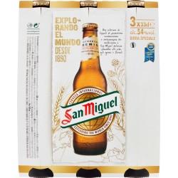San Miguel birra cluster cl.33 x3