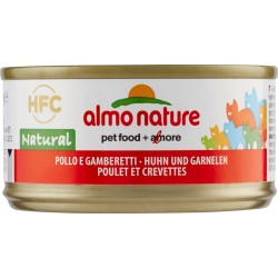 Almo nature gatto pollo gamberetti lattina gr.70