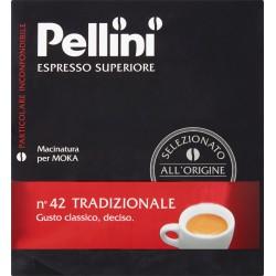 Pellini caffè Espresso macinato superiore n°42 tradizionale 2x250 gr.