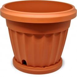 Bama vaso iris diametro cm.25 c/sottovaso