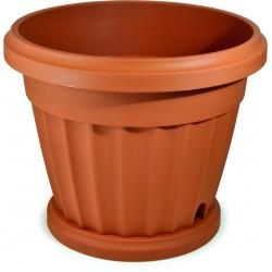 Bama vaso iris diametro cm.30 con sottovaso
