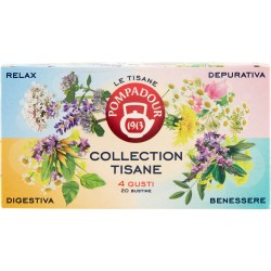 Pompadour Le Tisane Collection Tisane 4 Gusti 20 x 2 g