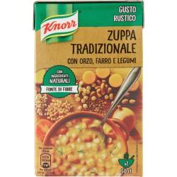 Knorr zuppa tradizionale orzo farro legumi brick ml.500