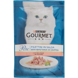 PURINA GOURMET Perle Gatto Filettini con Salmone Busta 85g