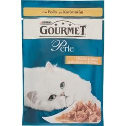 PURINA GOURMET Perle Gatto Filettini con Pollo Busta 85 gr.