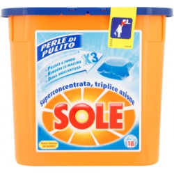 Sole gel caps perle di pulito x 18