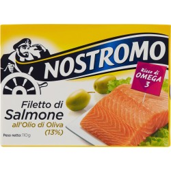 Nostromo Filetto di Salmone all'Olio di Oliva (13%) 110 gr.