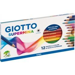 Pastelli giotto 12 colori supermina