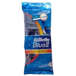 Gillette blue ii plus chromium x 5