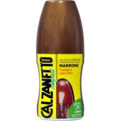 Calzanetto autolucidante marrone
