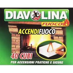 Diavolina accendifuoco x40