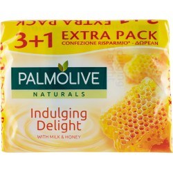 Palmolive Naturals Indulging Delight Sapone da Toilette 4 x 90 gr.