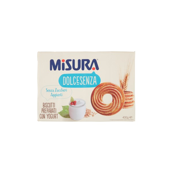 Misura biscotti senza zucchero yogurt , gr.400