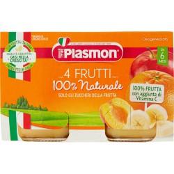 Plasmon omogeneizzato 4 frutti - gr.104 x2
