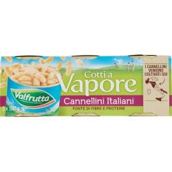 Valfrutta Cotti a Vapore Cannellini Italiani 3 x 150 gr.