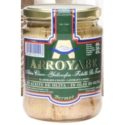 Arroyabe tonno yellowfin olio oliva vaso ml.450