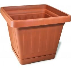 Bama vaso terra quadrato cm.30x30 c/sottovaso