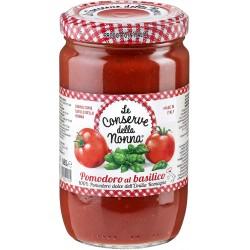 Le conserve della Nonna pomodoro al basilico - gr.680