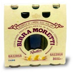 Moretti birra gazzosa cl.33 cluster x3