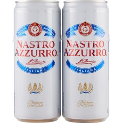 Nastro Azzurro birra lattina sleek cl.33 x2