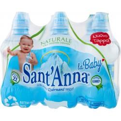 Sant'Anna acqua baby naturale cl.25 cluster x6