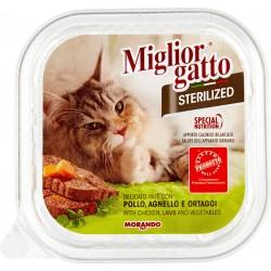 Migliorgatto sterilized pollo agnello ortaggi gr.100