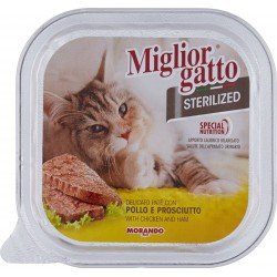 Migliorgatto Sterilized Delicato paté con pollo e prosciutto 100 gr.