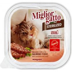 Migliorgatto sterilized salmone riso gr.100