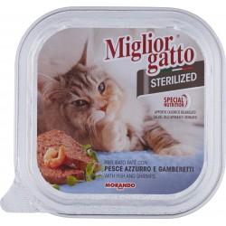 Migliorgatto Sterilized Prelibato paté con pesce azzurro e gamberetti 100 gr.