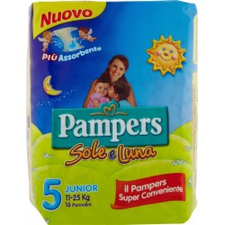 Pampers Sole e Luna Junior x16