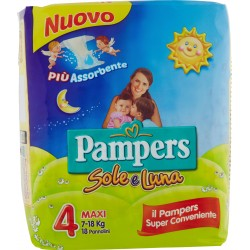 Pampers Sole e Luna Maxi x18