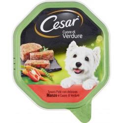 Cesar Cuore di Verdure Tenero Paté con delizioso Manzo e Cuore di Verdure 150 gr.