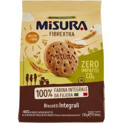Misura biscotti integrali fibrextra - gr.330