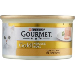PURINA GOURMET Gold Gatto Mousse con Tacchino lattina 85g