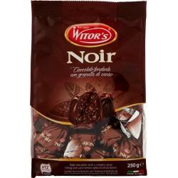Witor's Noir Cioccolato fondente con granella di cacao 250 gr.