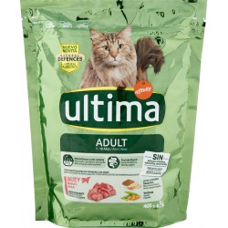 Ultima Cat Adult 1-10 Anni Manzo e riso 400 gr.