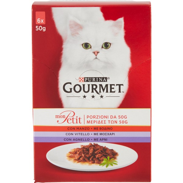 Gourmet mon petit prelibatezze carni  gr.50 x6 in offerta a prezzo scontato