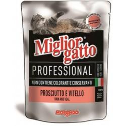 Migliorgatto busta prosciutto e vitello gr.100