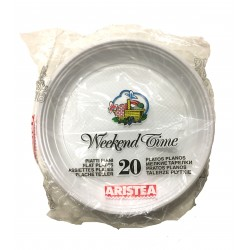 Aristea piatti bianchi piani x20