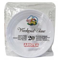 Aristea piatti bianchi fondi x20