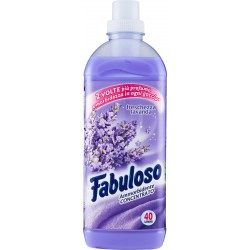 Fabuloso ammorbidente concentrato Lavanda, 2 volte più profumo e morbidezza, 40 lavaggi, 1 lt.