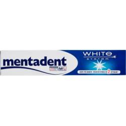 Mentadent dentifricio white system - ml.75