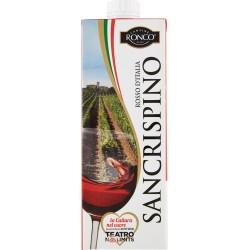 Sancrispino vino rosso - lt.1 brik