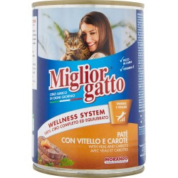 Migliorgatto pate vitello carote - gr.400