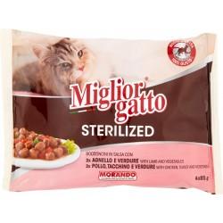Migliorgatto sterilized carne salsa - gr.85 x4