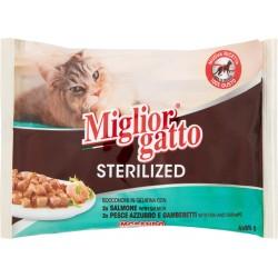 Migliorgatto sterilized pesce gelatina - gr.85x4
