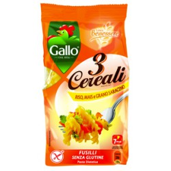 Gallo pasta 3 cereali fusilli - gr.250