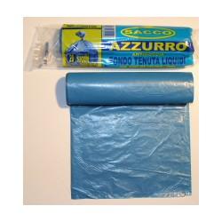 Bz sacco immondizia azzurro cm.50x60